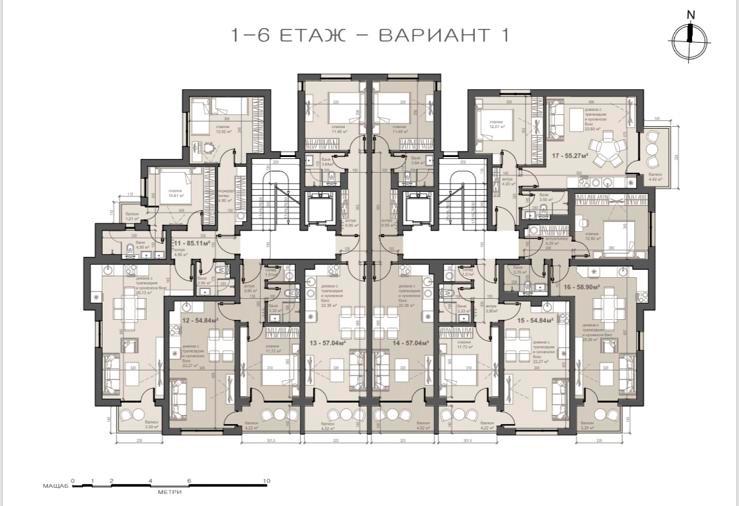 жк Люлин 7, гр. София (етаж-1-6)