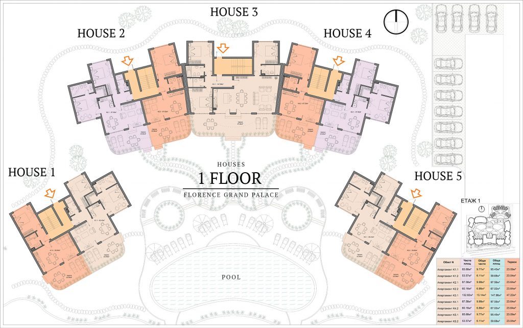 къщи в ж.к. Флоренс Гранд Палас - Свети Влас (1)