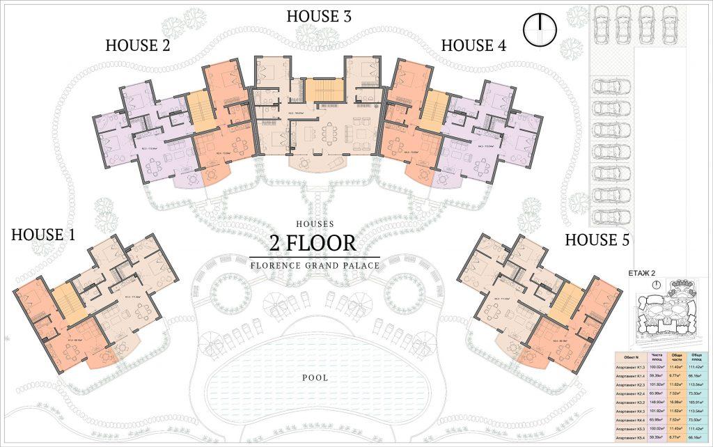 къщи в ж.к. Флоренс Гранд Палас - Свети Влас (2)