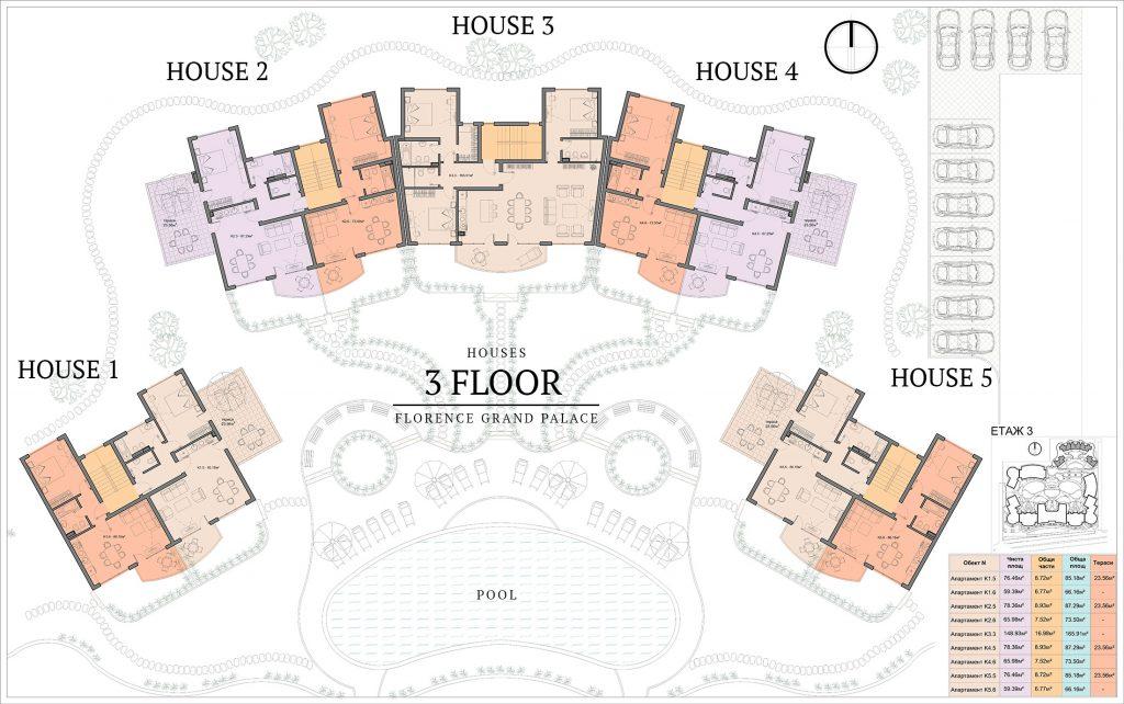 къщи в ж.к. Флоренс Гранд Палас - Свети Влас (3)